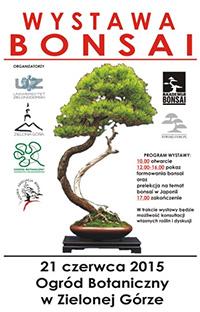 Plakat: Wystawa Bonsai Zielona Gora 2015